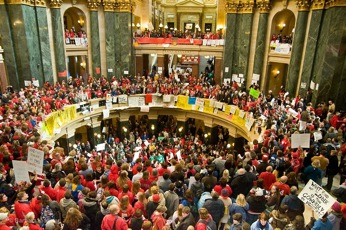 takeover of wisconsin statehouse