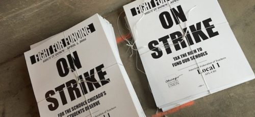Teacher strike fliers
