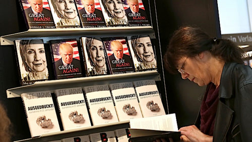 Trump books on display