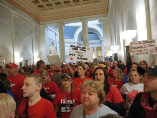 West Virginia teachers protest