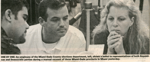 Jane McAlevey during the recount in Florida in 2000