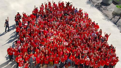 UTLA Teachers union strikers