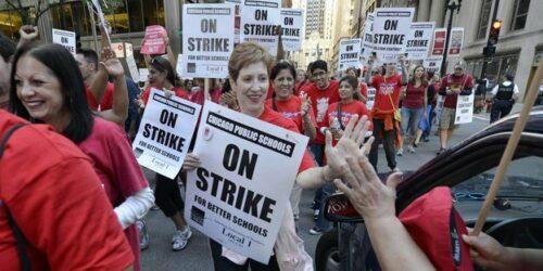 Chicago Teacher strikers