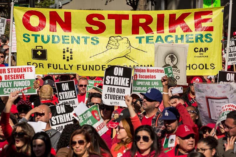students striking