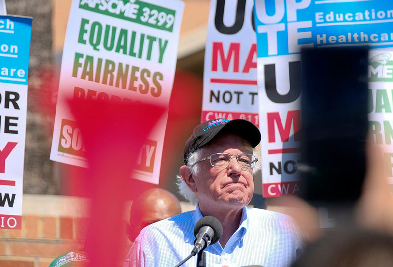 bernie sanders at union rally