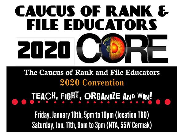 Caucus of Rank & File Educators 2020 Convention
