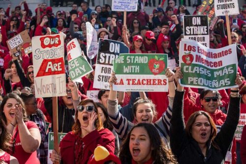 striking teachers