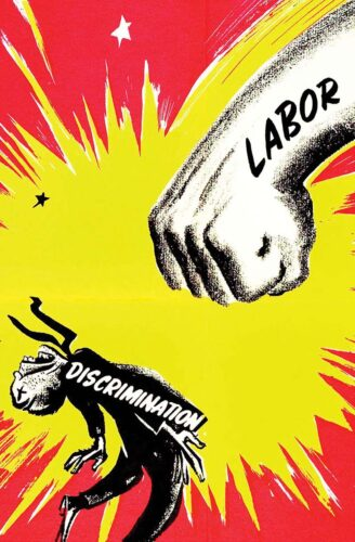 illustration of labor punching discrimination
