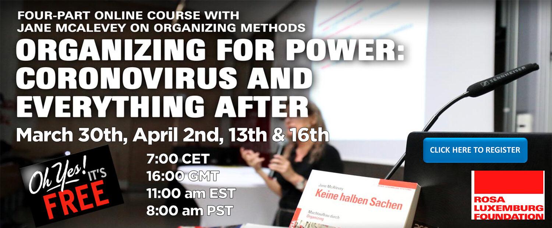 organizing for power online slider image