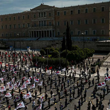 May Day protest in Greece