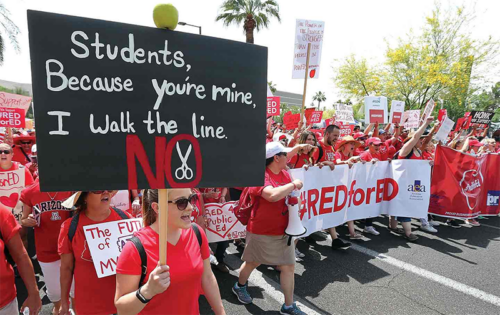 Arizona teachers march in Phoenix