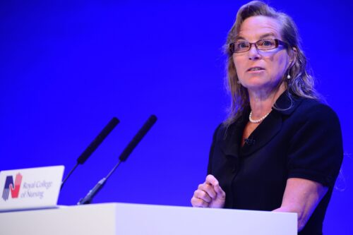 Jane McAlevey speaks at the Royal College of Nursing
